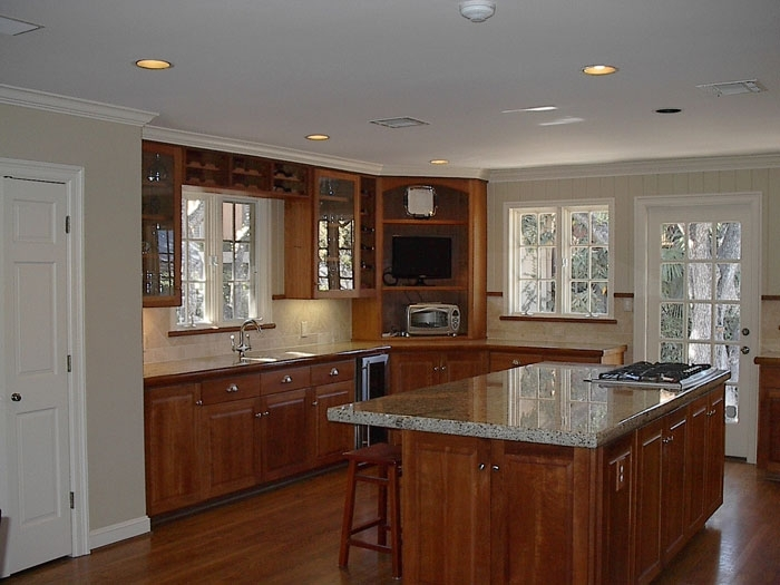 gray kitchen walls with cherry cabinets luxury kitchen remodel quality renovations 8348